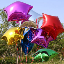 5 pcs/lot 18 inch Five point Star Foil Balloons Wedding Birthday Party Decoration supplies balon Christmas Engagement air globos