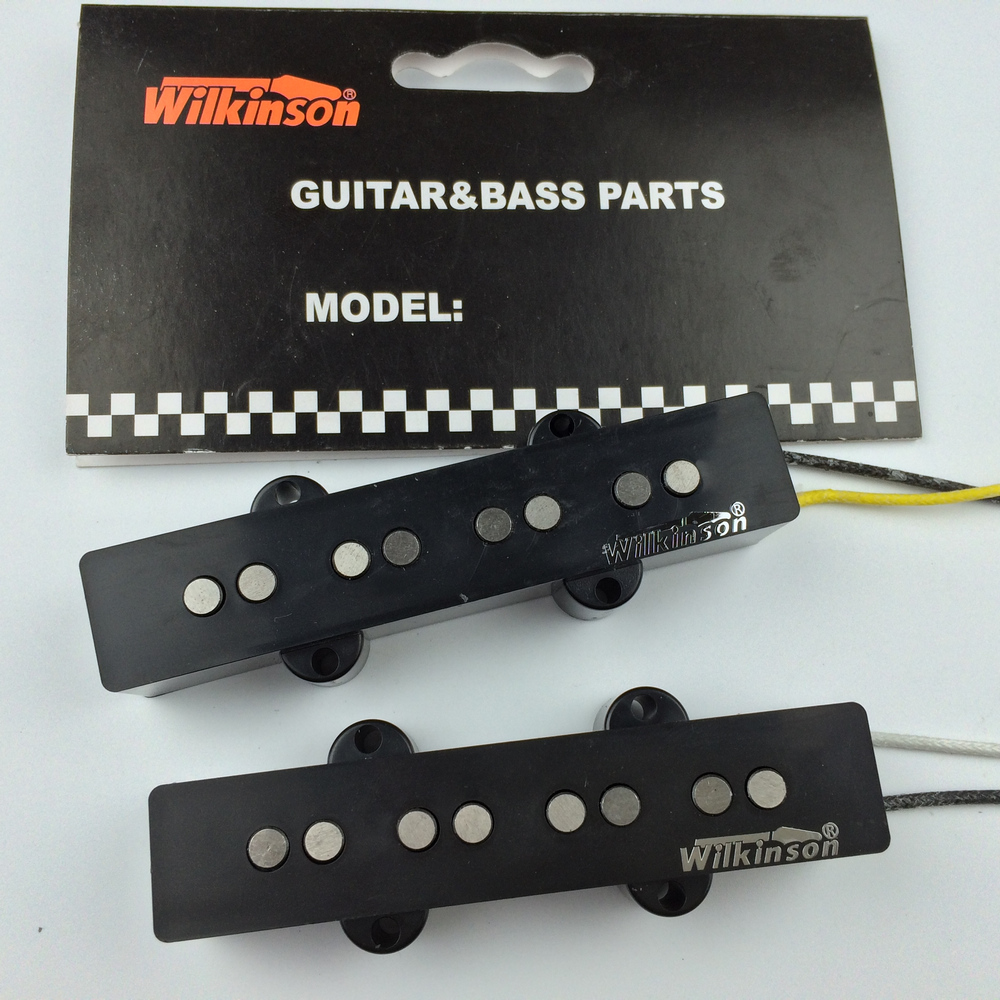 Wilkinson Vintage Style JB jazz elektrik bass Guitar Pickup alnico pickups gitar aksesori Set 1960 Made In Korea WBJ N / B