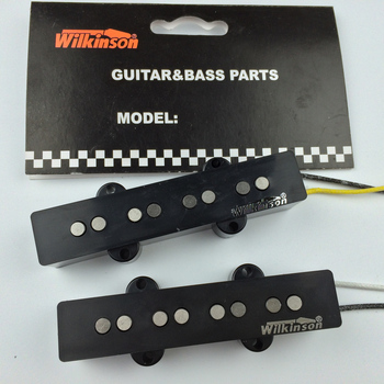 цена на Wilkinson Vintage Style JB jazz electric bass Guitar Pickup alnico pickups guitar accessories Set 1960 Made In Korea WBJ N/B