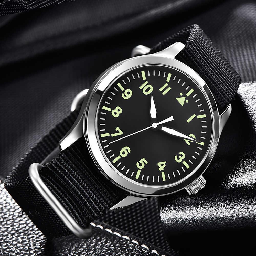 Corgeut Nylon Military Men Automatic Luxury Brand Sport Design Clock Leather Self Wind  Mechanical Wrist Watches