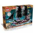 1535Pcs Hot New Pirates of the Caribbean Black general ship large model Gift Building Blocks toys Compatible With Legoe