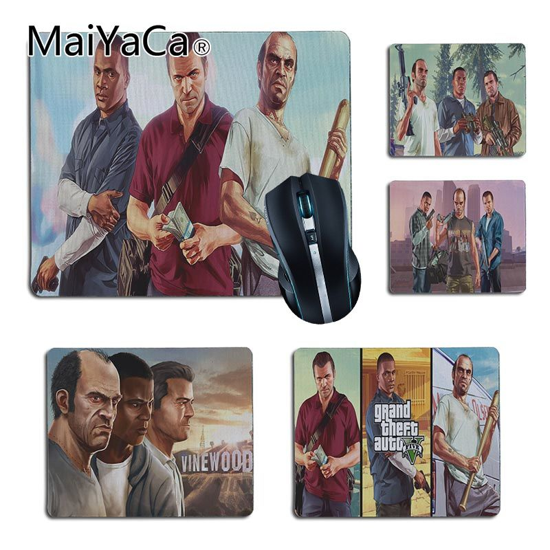 MaiYaCa GTA 5 Trevor Franklin Michael DIY Design image Game mousepad Size for 25X29cm 18x22cm Gaming Mousepads