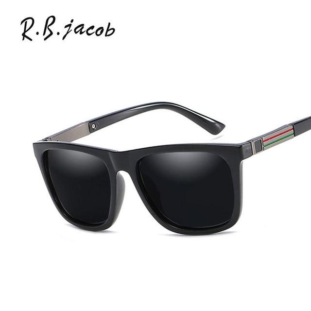 1d762486997e 2017 Hot Sale Square Black Women Sunglasses For Men Brand Designer Trend  Male Sun Glasses Classic Polarized UV400 High Quality
