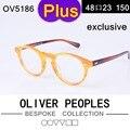 Cara grande ov5186 plus retro gafas de marco miopía marcos ópticos para los hombres y las mujeres oliver peoples, además de anteojos