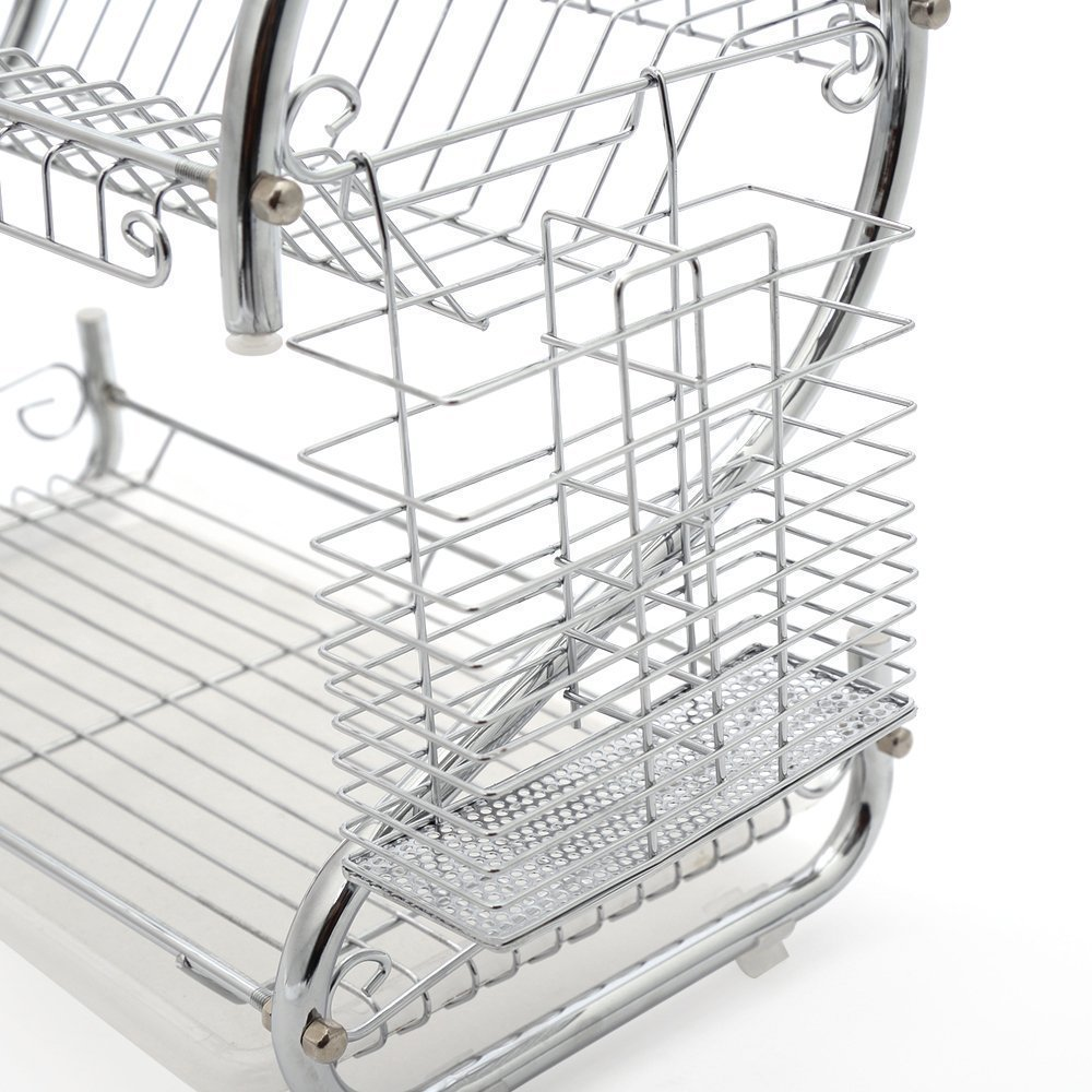 Tier Dish Rack Functional Durable Drying Wire Frame Rack For Kitchen ...