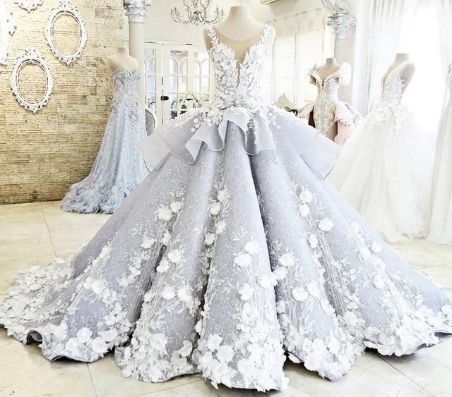 Zyllgf Bridal Luxury Ball Gow Wedding Dresses Sexy Sheer Back