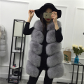 Real Fox Fur Vest Women's Fur Coat Sleeveless Luxury New Fox Fur Gilet Classic Outwear Fashion Cloth Winter Genuine Fur Coat
