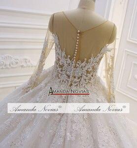 Image 3 - Amazing New Model 2019 Long Sleeve Lace Wedding Dresses Amanda Novias