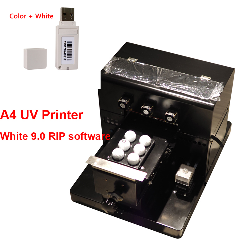 2018 upgrade A4 UV Printer UV Flatbed Printer for Phone Case, T-shirt, leather,TPU case printer with White ver9.0 RIP software 2018 phone case uv printer a4 size uv printer led uv flatbed printer for phone case leather tpu with rip software with ink