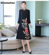 2019 womens cheongsam qipao evening dress chinese oriental dresses traditional long wedding