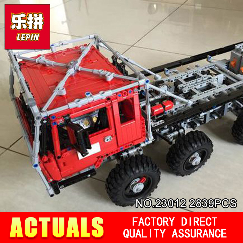 LEPIN 23012 technic series 2839pcs vehicles car Model toy 813 Building blocks Bricks Equipped with 5 motors and 1 charging box cool and fashion toy vehicles plastic mold