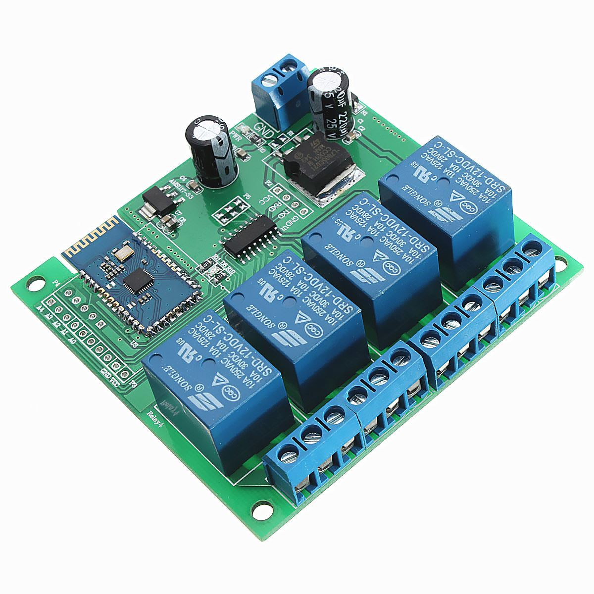 Electronics Circuit Boards 12V 4Ch Bluetooth Relay Android Mobile ...
