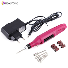 Professional Nail Art Drill Set 6 Bits Electric Grinding Machine Toenail Drill File Tool Grinder Polisher Set Manicure Care