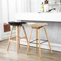 Деревянные барные стулья 100% PP пластик искусственная кожа Cottton барный стул Северного ветра модные креативные барный стул популярные мебель