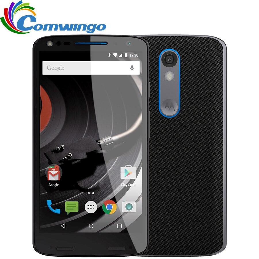Débloqué Motorola DROID turbo 2 XT1585 3 gb RAM 32 gb ROM 4g LTE Mobile Téléphone 21MP 2560x1440 5.4 64bit Snapdragon810 Téléphone