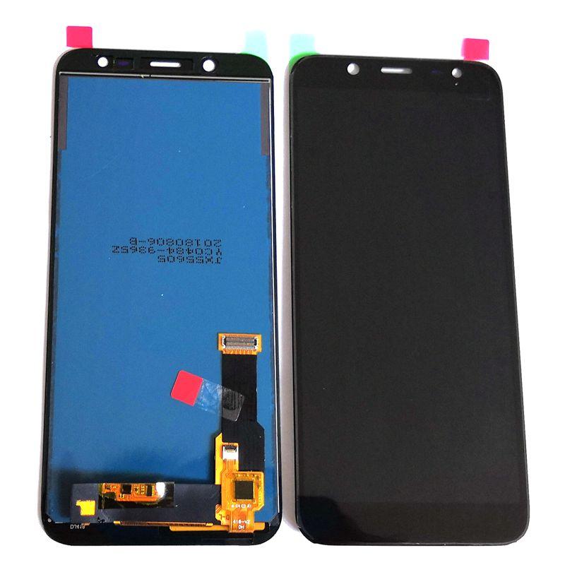 TFT Para Samsung Galaxy J6 2018 J600 SM-j600F J600g J600fn/ds LCD Com tela de toque conjunto Completo de vidro para o reparo display (Não Amoled)