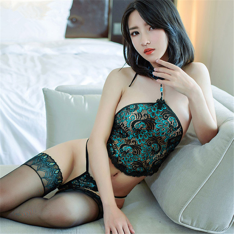 Plus Size Lingerie Sexy Hot Erotic Peacock Lace Babydoll With Thong Women's Underwear Women Sex Products Sexy Costumes