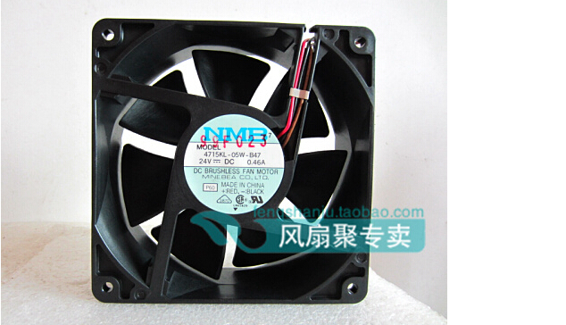 New original NMB 12cm 12038 24V0.46A 4715KL-05W-B47 120*120*38mm three lines radiating fan new original bp31 00052a b6025l12d1 three wire projector fan