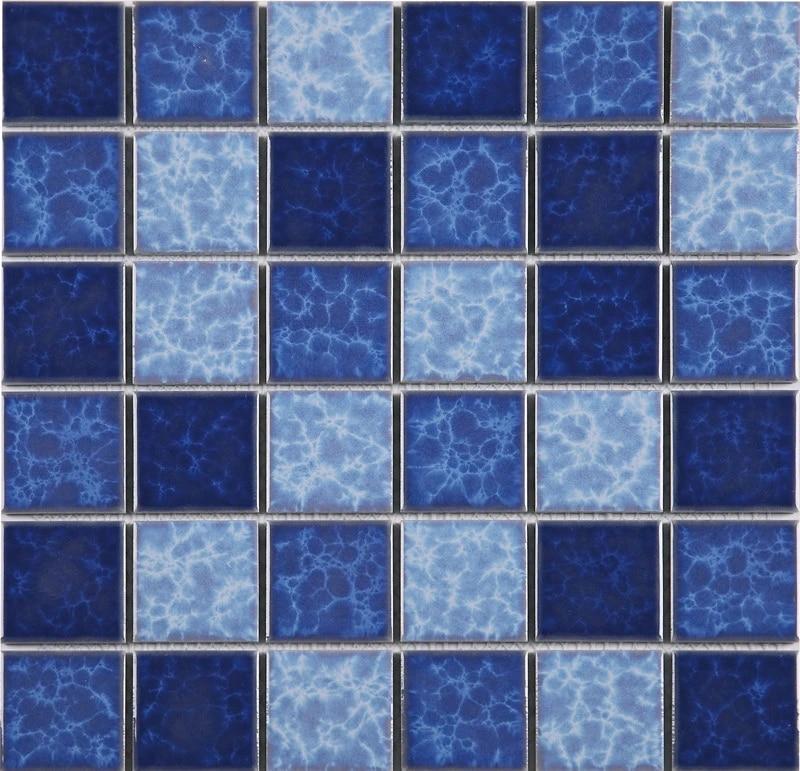 2 x2 hot sale swimming pool tiles glazed porcelain tiles blue pool tiles tcy4802