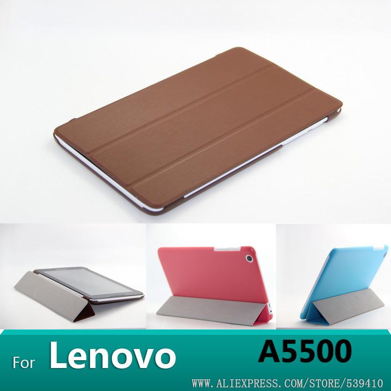 For Lenovo A5500 case original Smart Case Cover for Lenovo Idea Tab A8-50 A5500 8 inch tablet +screen protector+stylus replacement lcd display for lenovo a8 50 tablet a5500