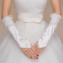 Free shiping New wedding gloves, bride lace straps, short gloves