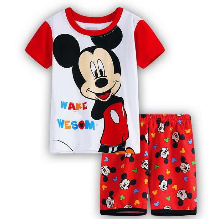 73cc2ed6c ... 2018 Baby Pajamas Summer Baby Kids Sleepwear Pajamas Short Sleeve  Pajamas Shirt+Short Pants 2PCS ...