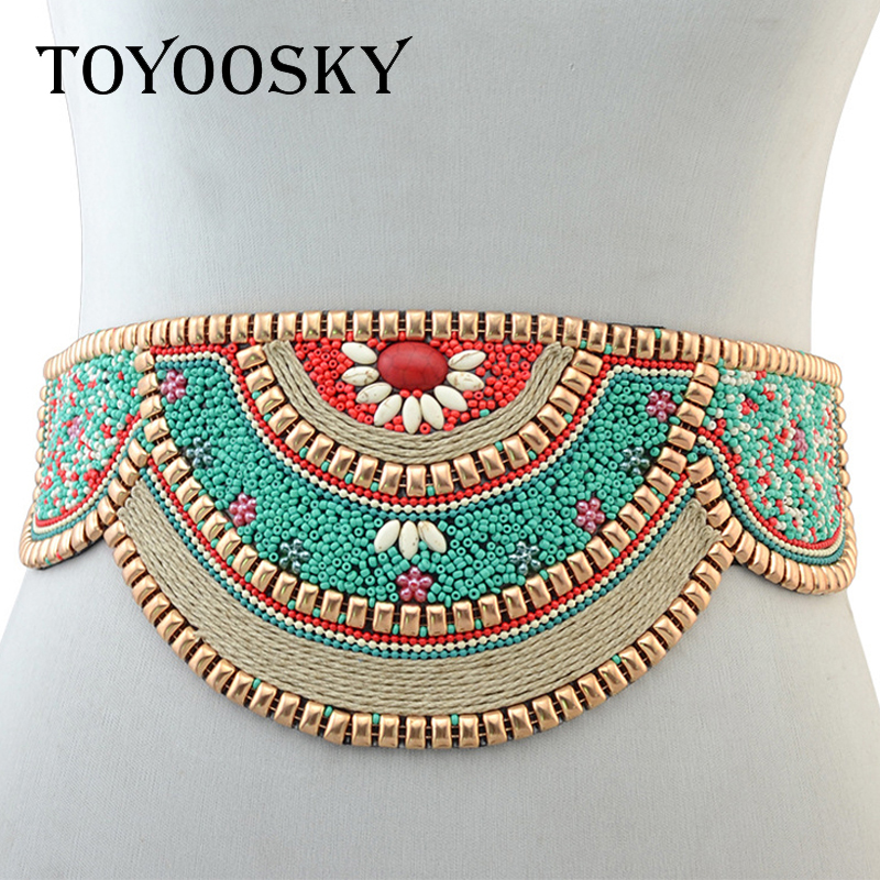 Luxury Ethnic Traditional Bohemian Wide woman   belt   strap for women jeans Dress Wide female   belts   High quality