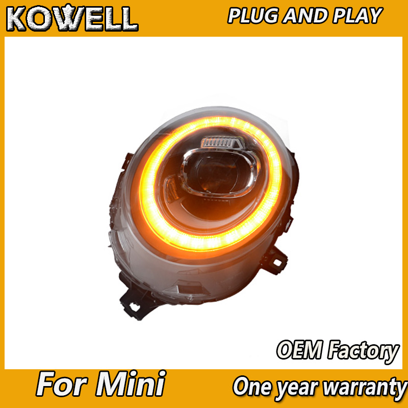 Image 4 - KOWELL Car Styling For Mini F55 F56 cooper led headlights For F57 All LED head lamp Angel eye led DRL+turn signal front light-in Car Light Assembly from Automobiles & Motorcycles