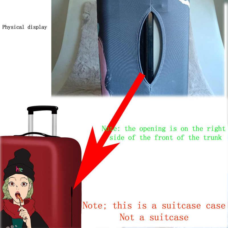 מטען אלסטיות מגן כיסוי מקרה עבור מגן מזוודת עגלת כיסוי עטיפות 3D נסיעות אביזרי כלב דפוס T0120