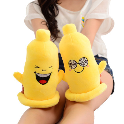 Buy Creative spoof condom doll doll pillow case expression Men women plush toys gifts birthday