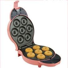 купить Donut Machine Home Automatic Mini Cake Machine Double-sided Electric Baking Pan Breakfast Machine дешево