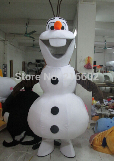 Sourire Olaf mascotte Costume dessin animé personnage Costume livraison gratuite