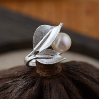 925 Sterling Silver Pearl Ring Flower 100 Real S925 Thai Silver Rings For Women Jewelry Male