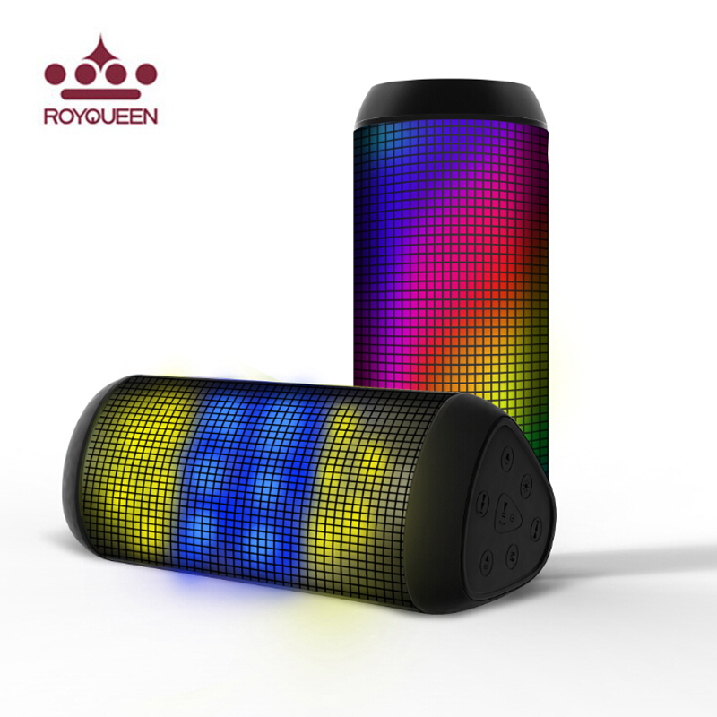Original Royqueen Phantom T900 Music Pulse Wireless Speaker Subwoofer support TF Dazzle Led colorful light NFC Bluetooth Speaker phantom page light