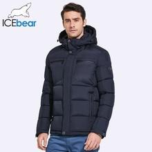 ICEbear 2017 Mens Winter Jackets Chest Exquisite Pocket Simple Hem Practical Waterproof Zipper High Quality Parka
