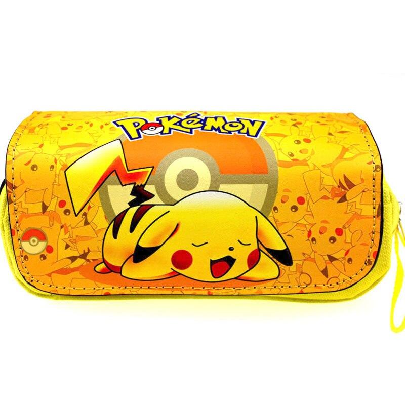 Ehrlichkeit Anime Pokemon Pencil Case Tasche Niedlich Make-up Tasche Pikachu Schule Federmäppchen Kosmetiktaschen Großhandel HöChste Bequemlichkeit