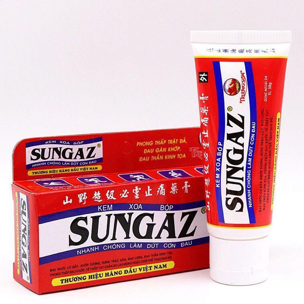30g 100% Vietnam Sungaz Balm Cream Back Shoulder Pain Relief Arthritis Original Ointment Medical Plaster