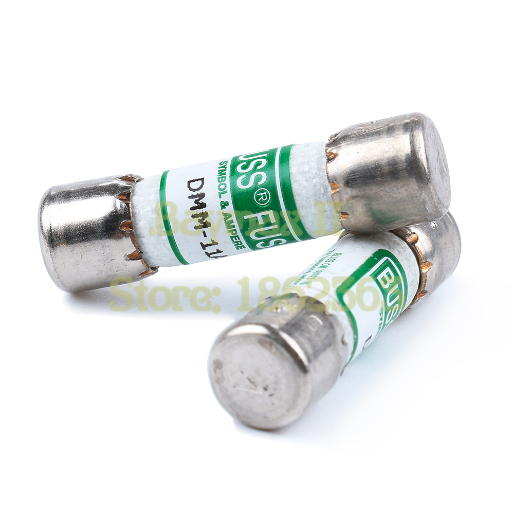 2 Pieces Buss Fuses 11A 1000V AC/DC 10x38mm Fast Fuse AMP for Fluke Digital Multimeter image