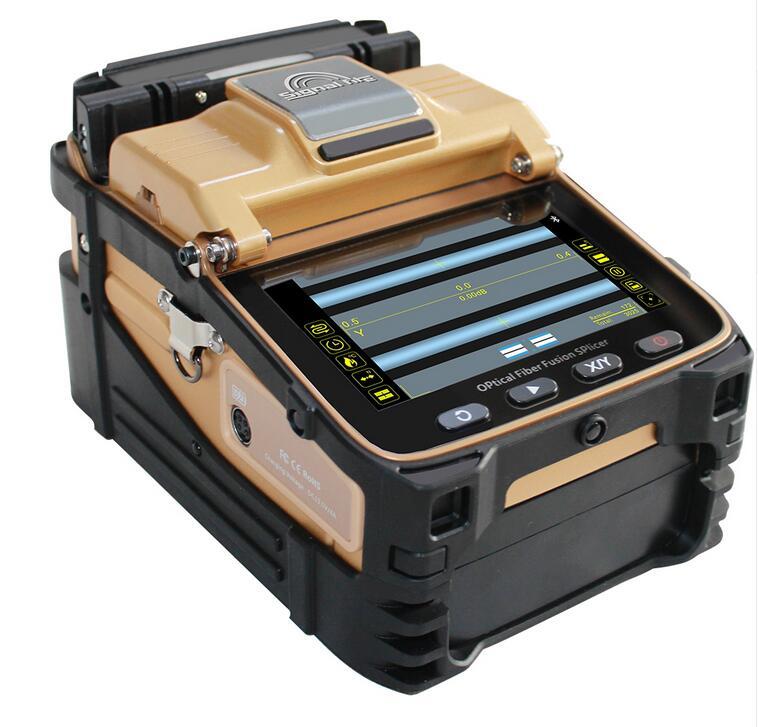 Free Shipping AI-8C SM&MM Automatic FTTH Fiber Optic Splicing Machine Optical Fiber Fusion Splicer