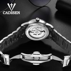 Image 5 - CADISEN Watch Men NH36A Mechanical movement Set Automatic Self wind Stainless Steel Sapphire 5ATM Waterproof Business Men Wrist