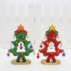 OLAYER Christmas Decoration 3D Wooden Christmas Tree Christmas Party Decoration Craft Figurine, Wooden Mini Christmas Tree