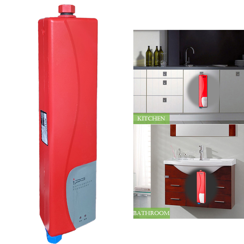 Household Tankless Water Heater Instant Shower Electric Water Heater for Kitchen Bathroom Practical Double Shell Water