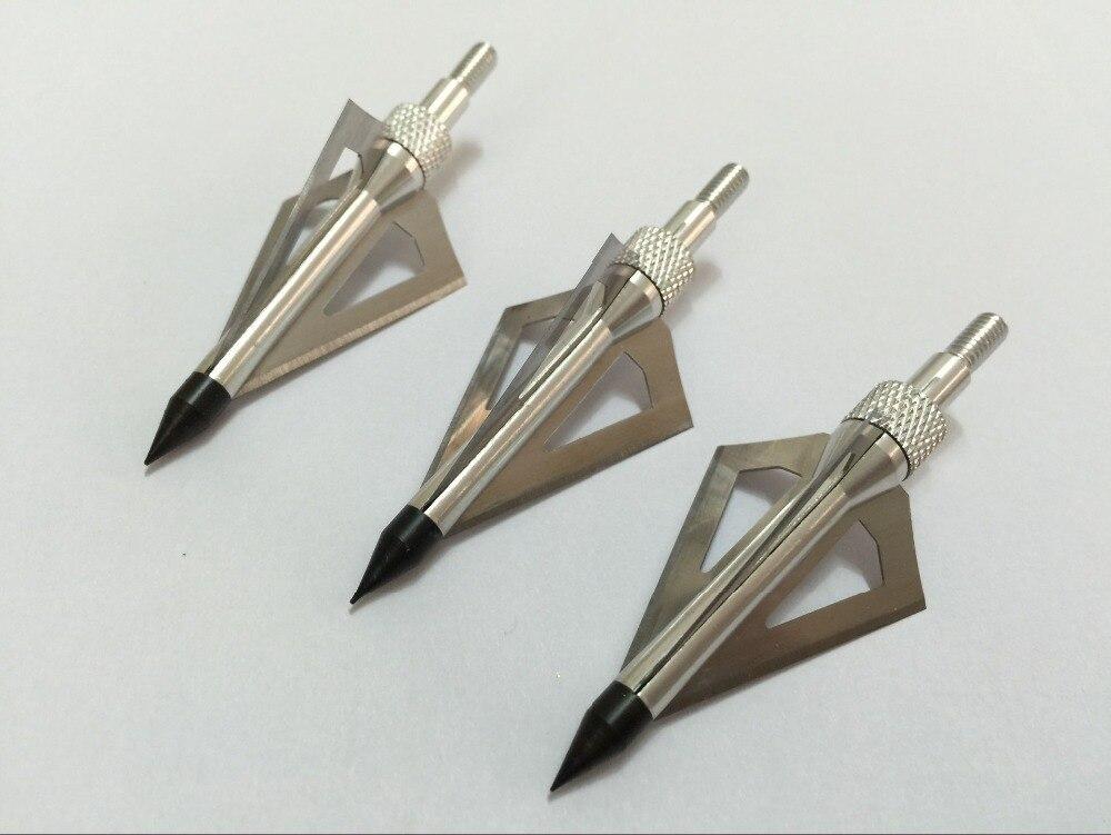 Sports & Entertainment Beautiful 3pk Silver Color 100 Grain Compound Bow Arrow Broadhead Arrowhead Arrow Targets Free Shipping Good Reputation Over The World