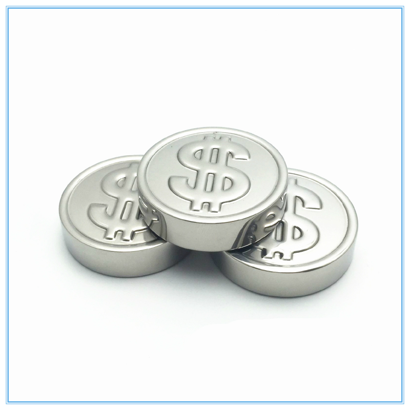 3PCS dollars, coins, 304 stainless steel, ice, ice cream, ice wine whisky creative, round ice