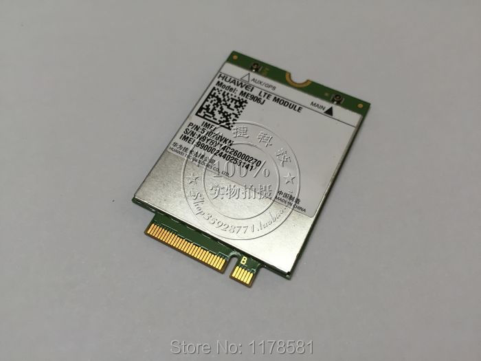Unlocked HUAWEI ME906J 3G 4G WWAN LTE Module Quad-band WCDMA GPS NGFF internal Wireless M.2 card shipping for huawei me906j 3g 4g wwan lte module quad band wcdma gps ngff internal wireless m 2 card