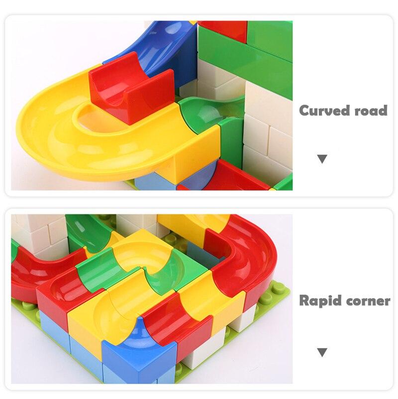 pista blocos de construção funil plástico slide