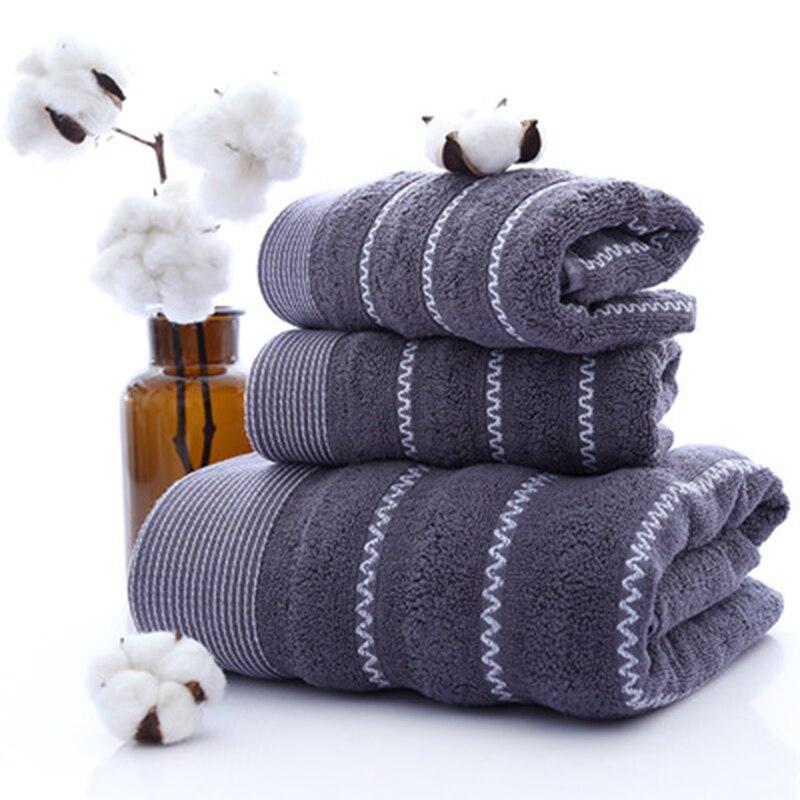 LF88006 nuevas líneas de agua de algodón puro conjunto de toalla de baño de tres piezas para adultos Toalla de baño para regalo toalla facial de mano conjunto
