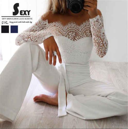 Hirigin Для женщин Клубная одежда Playsuit Повседневное с длинными рукавами комбинезон брюки новый дропшиппинг