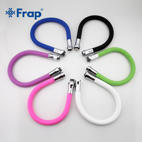 Frap New Arrival Multi Color Silicone Tube Flexible Hose All Direction For Kitchen Faucet 6 Colors