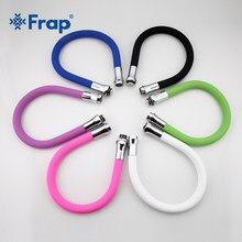 Frap-Tubo de silicona multicolor para grifo de cocina, manguera Flexible en todas las direcciones, 6 colores disponibles, F7250